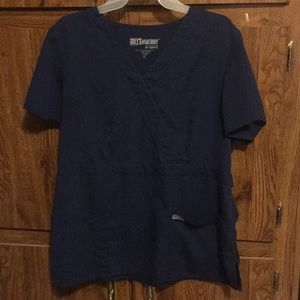 Grey's Anatomy Scrub Top Navy Blue XL